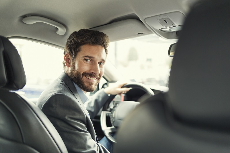 Man driving after LASIK at Griffin & Reed Eye Care