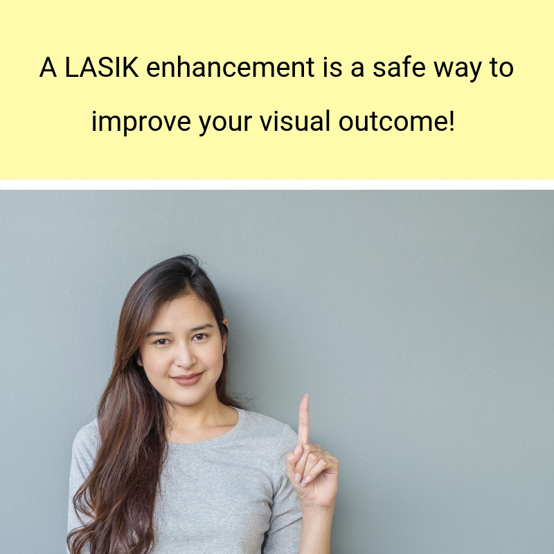 The definition of a LASIK enhancement with Griffin & Reed Eye Care