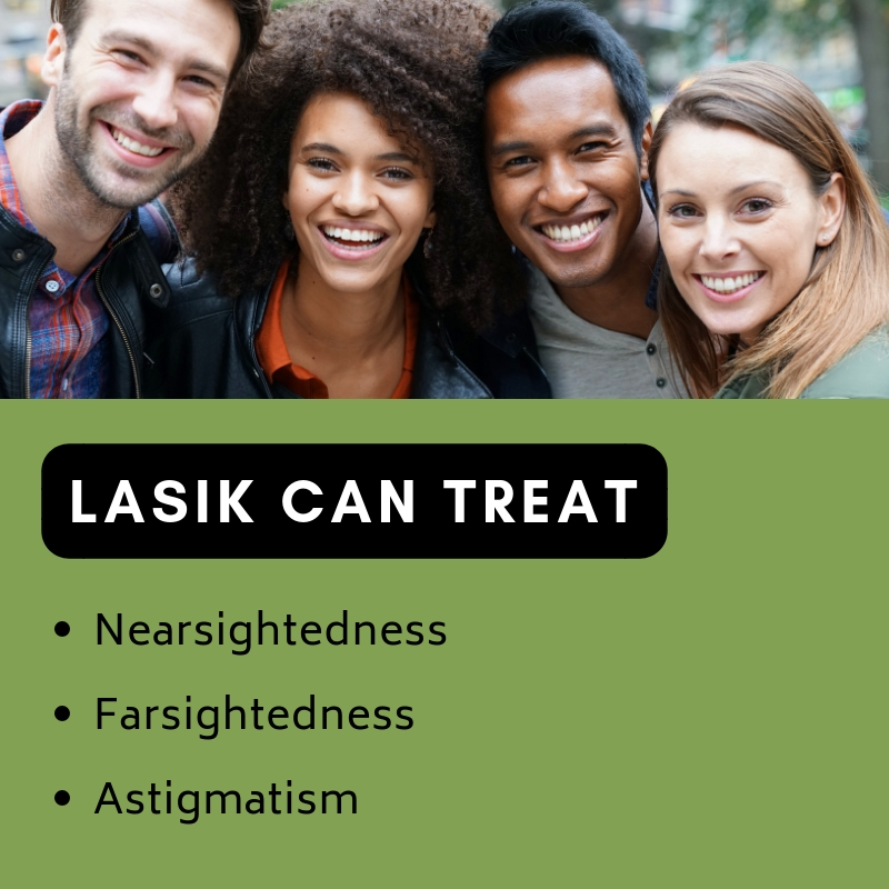 List of conditions that LASIK can treat | Griffin & Reed Eye Care