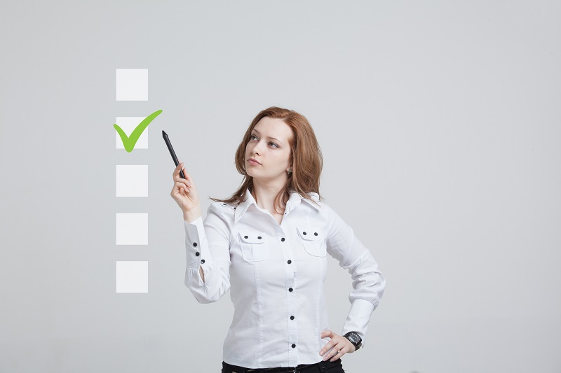 Woman with her LASIK checklist
